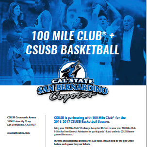 CSUSB + 100 Mile Club = CommUNITY Spirit and FUN!