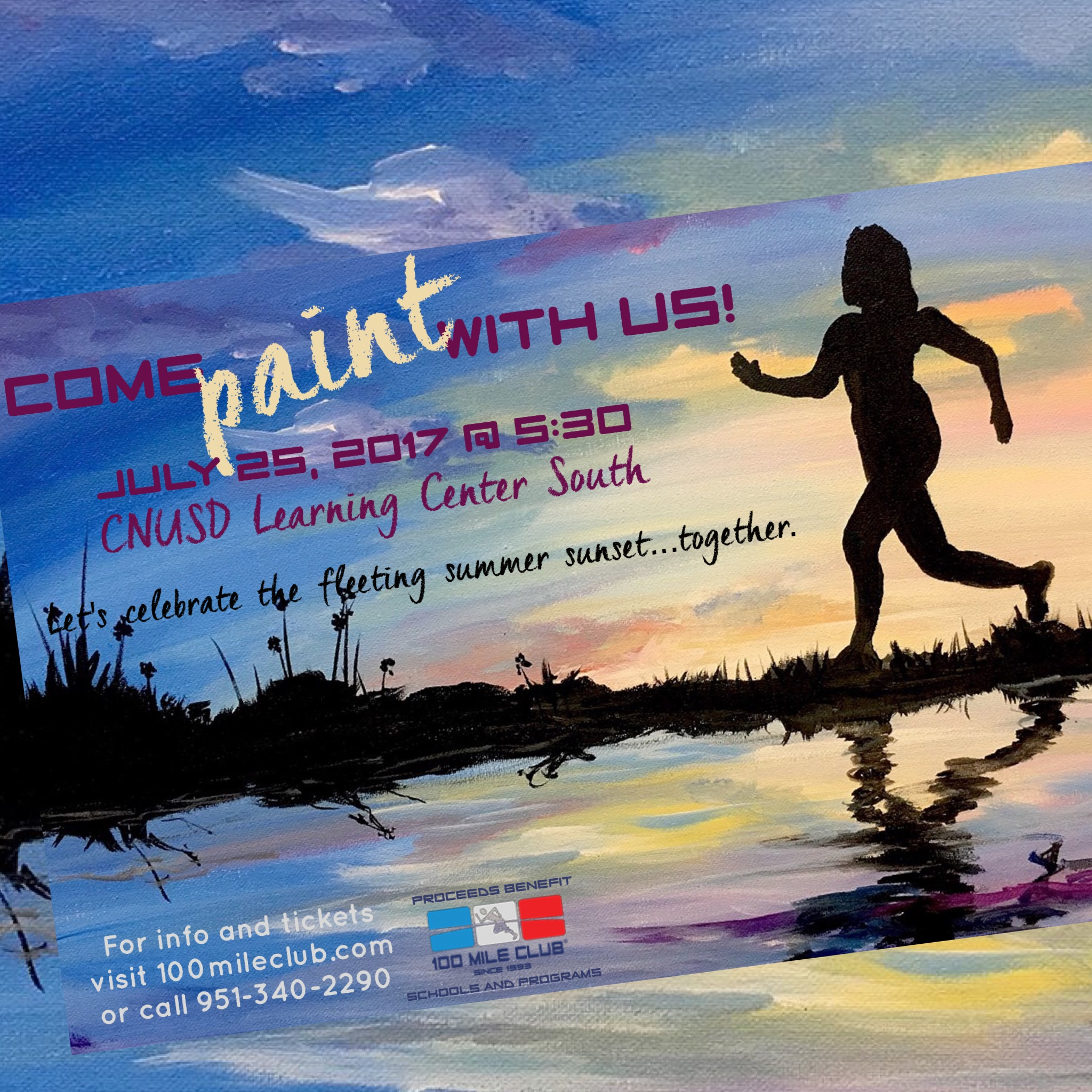 Let's Paint Together and Celebrate Summer