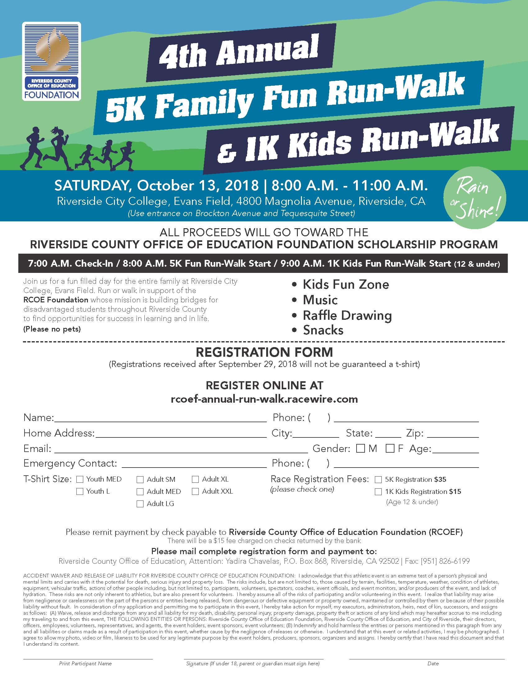 upcoming events rcoe presents 5k family fun run walk 100 mile club